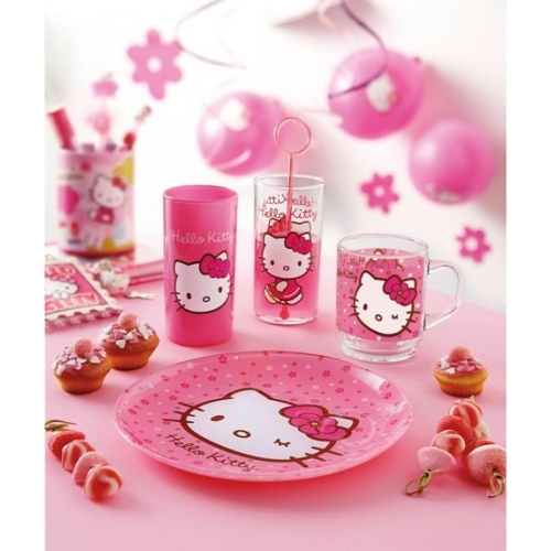 LUMINARC HELLO KITTY SWEET PINK GLĀZE 27CL, ROZĀ