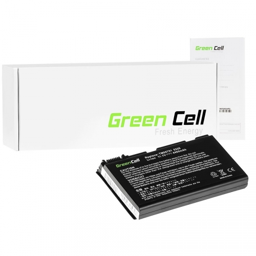 GREEN CELL Baterija akumulators akumulator   Portatīvā datora baterija Acer Extensa 5220 5620 5520 7520 GRAPE32 11.1V 6 cell (AC08)