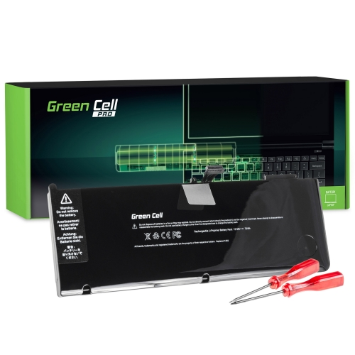 GREEN CELL Baterija akumulators   PRO A1382 Apple MacBook Pro 15 A1286 (Early 2011, Late 2011, Mid 2012) (AP08PRO)