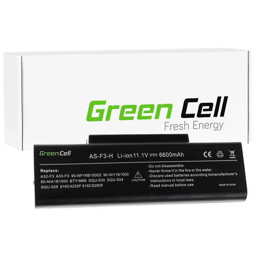 GREEN CELL Baterija akumulators   A32-F3 do Laptopa Asus F2 F3 F3E F3F F3J F3S F3SG M51 (AS82)