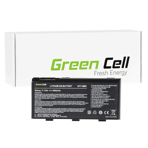 GREEN CELL Baterija akumulators   BTY-M6D do Laptopa MSI GT60 GT70 GT660 GT680 GT683 GT780 GT783 GX660 GX680 GX780 (MS10)