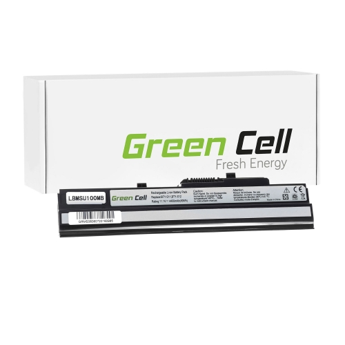 GREEN CELL Baterija akumulators   BTY-S11 BTY-S12 do MSI Wind U90 U100 U110 U120 U130 U135 U135DX U200 U250 U270 (MS06)