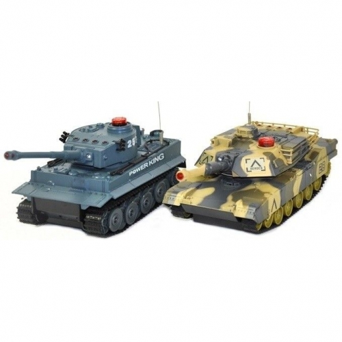 Set of German and Abrams tanks fighting each other RTR 1:24
