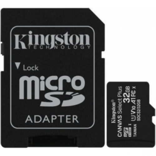 KINGSTON   Canvas Select MicroSDHC 32GB + Adapter