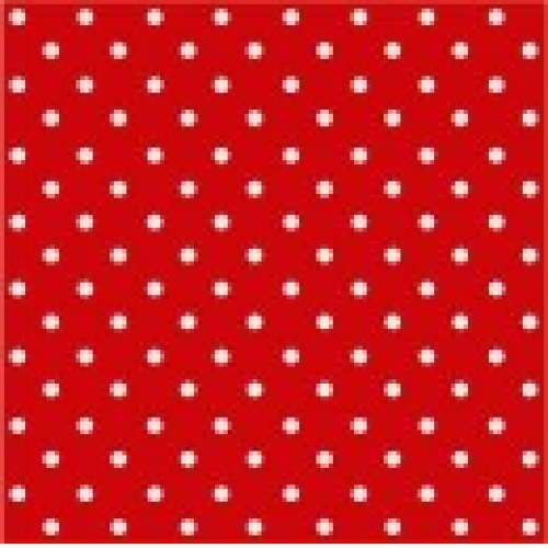 PAW DECOR COLLECTION Salvetes 33x33cm dots red