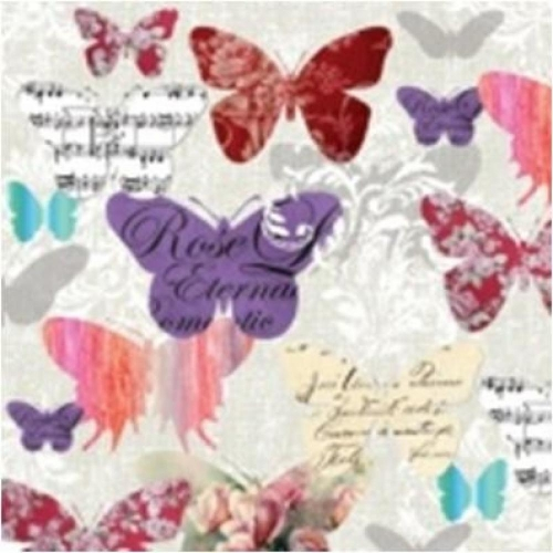 PAW DECOR COLLECTION Salvetes 25x25cm Romantic Butterflies