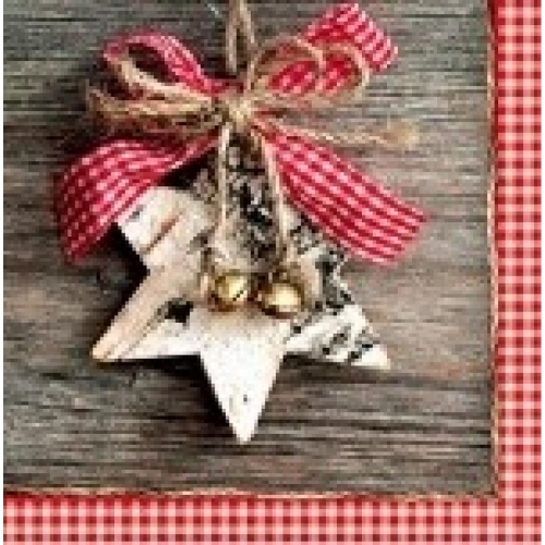 PAW DECOR COLLECTION Salvetes 25x25cm wooden star