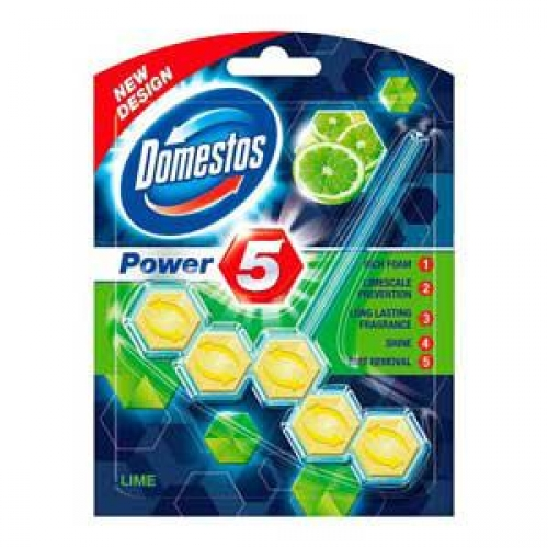 "WC bloks DOMESTOS Power ""5"" Lime green 55g."